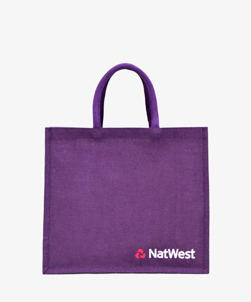 Customized jute promotional bags supplier
